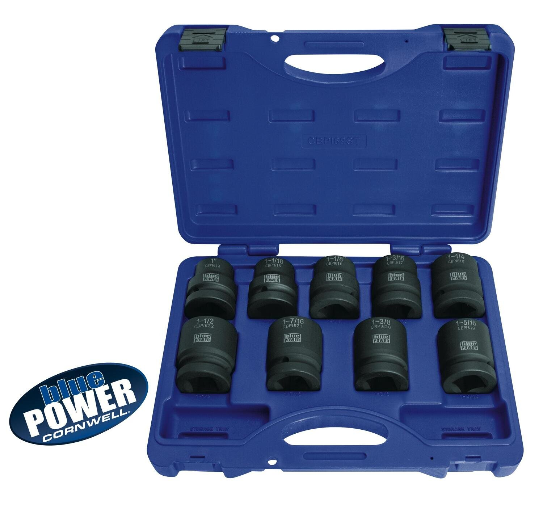 "CBPI69ST - 9 Piece bluePOWER® 1"" Drive SAE Power Socket Set"