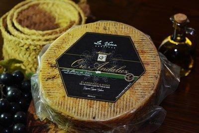 ORO ANDALUZ Queso Artesanal CURADO (4 meses de curación y 1 - 1.2 Kg Aprox.). Aceite o Pimentón. Sabor suave, nuestro queso más vendido.