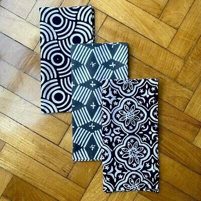 Batik Reusable Cloth BLACK SET
