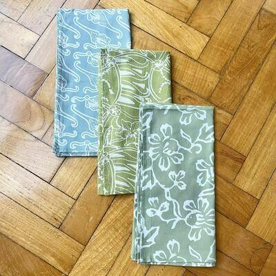 Batik Reusable Cloth GREEN SET