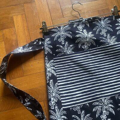 Black Coconut Batik Apron