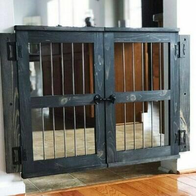 """34"""" Tall Double Door Pet Gate"""