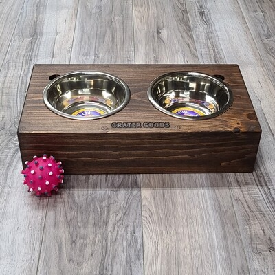Open End Dog Bowl Stand, Medium