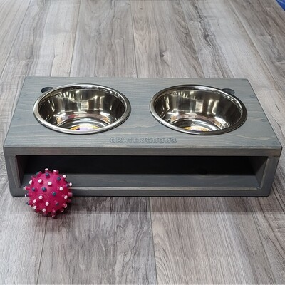 Open Face Dog Bowl Stand, Medium