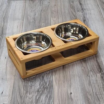 Skeleton Dog Bowl Stand, Medium