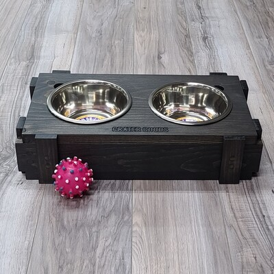 Crate Dog Bowl Stand, Medium