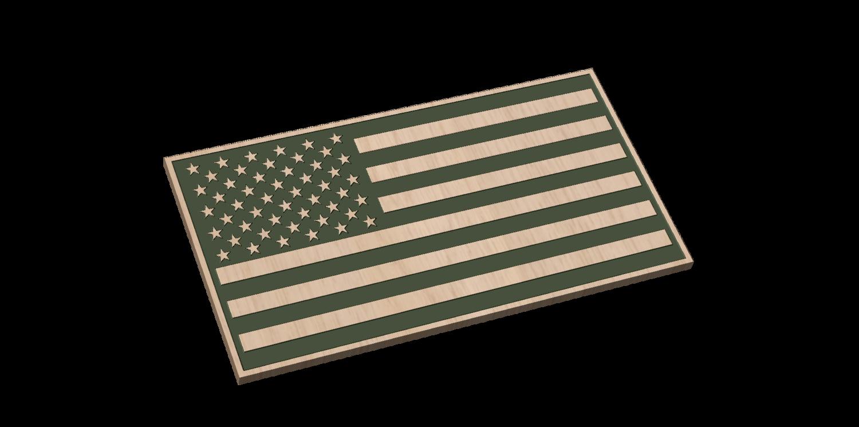 American Flag (Laser Engraved)