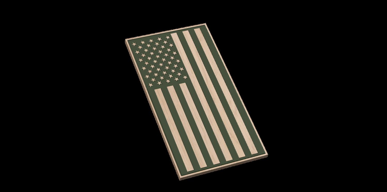 American Flag Vertical (Laser Engraved)
