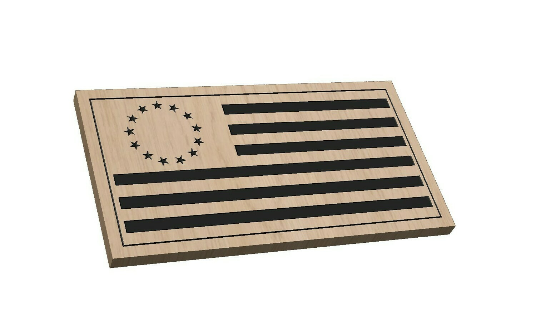 Betsy Ross Flag (Laser Engraved)