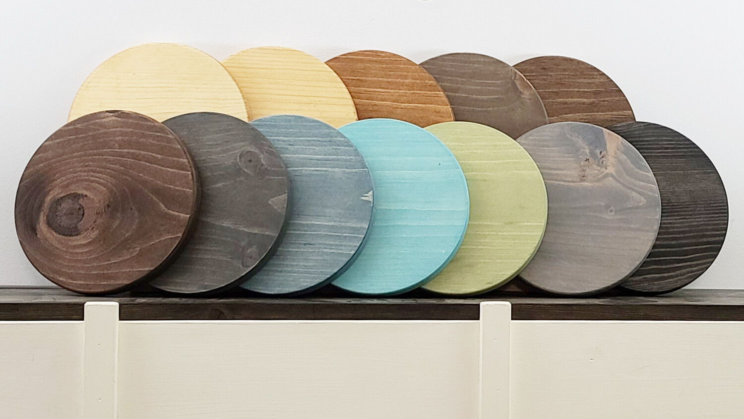 Small Stained Wooden Rounds