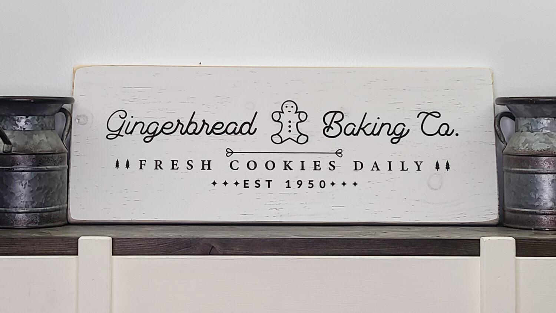 Gingerbread Backing Company Christmas Sign