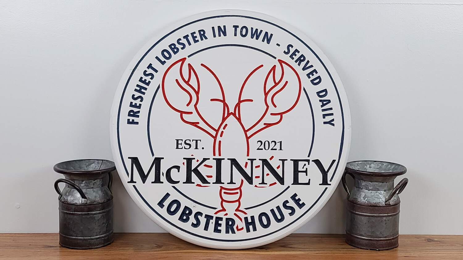 Personalized Lobster House Sign, Lobster House Family Name Sign, Seafood Restaurant Sign