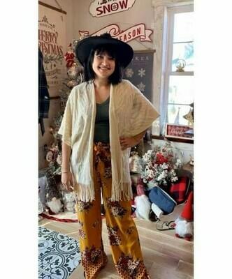 Soft Fringe Kimono