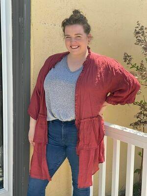 Ruffle Kimono