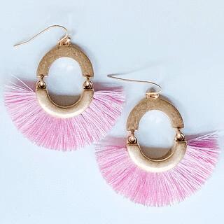Pastel Color Tassel Earring