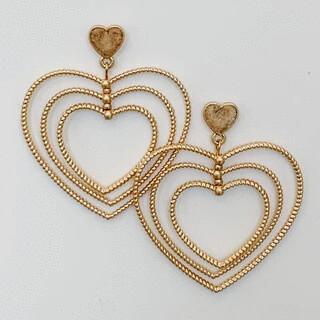 3D Heart Earrings