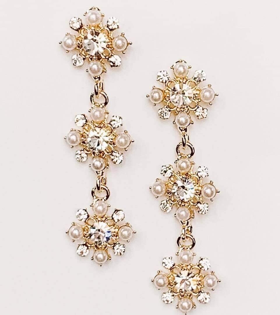 Diamond Studded Drop Earrings