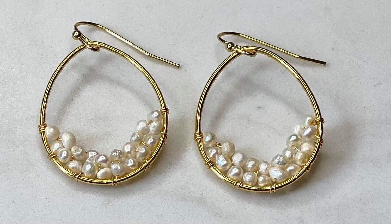 Teardrop Pearl Earrings