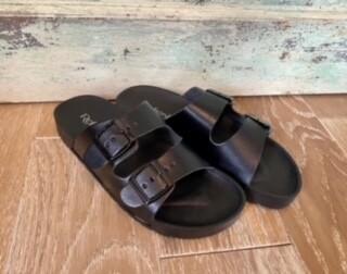 Black Two Strap Sandal