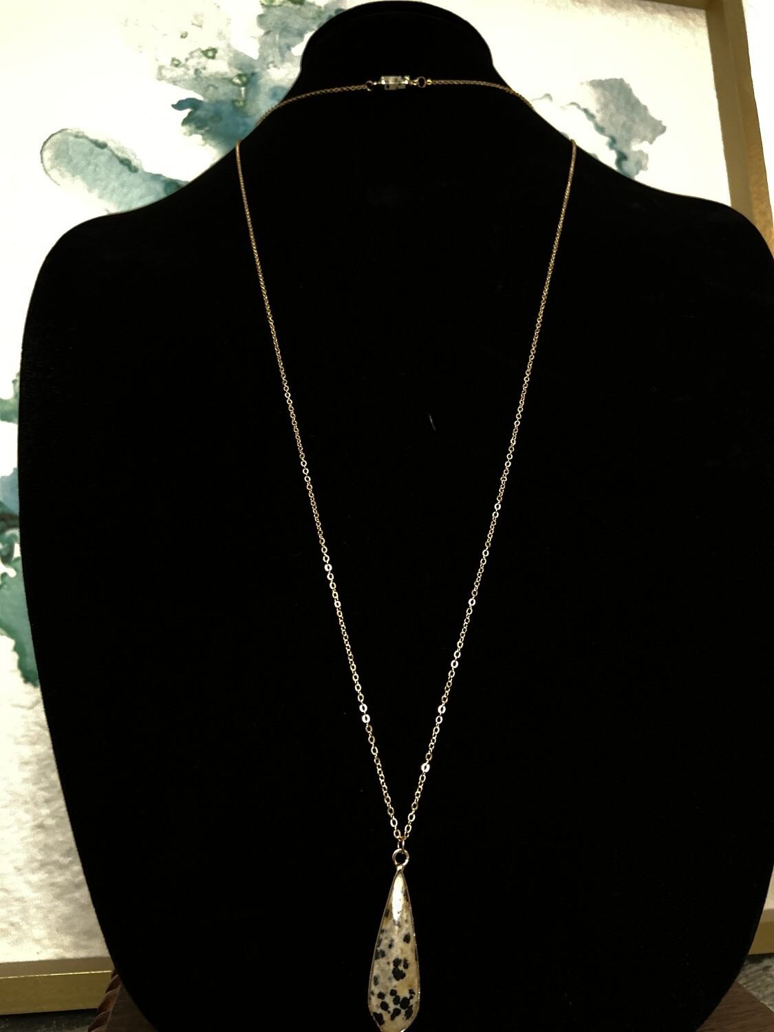 Two Layer Dainty Dalmatian Necklace
