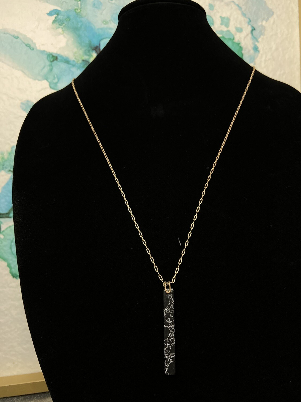 Bar Stone Longer Necklace