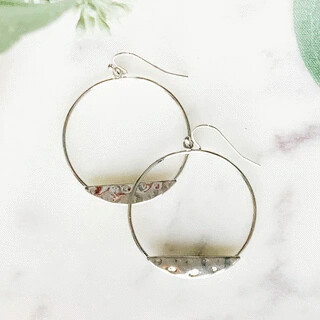 Hammered Press Hoops