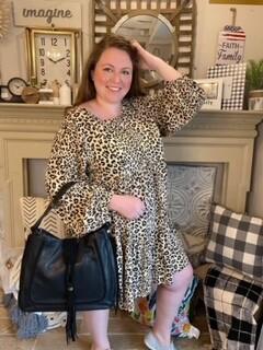 Leopard Printed Knit Dress