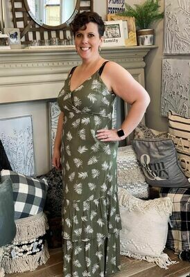 Feather Green Strappy Dress