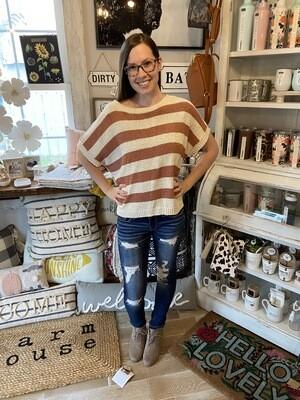 Ginger Stripe Sweater Top
