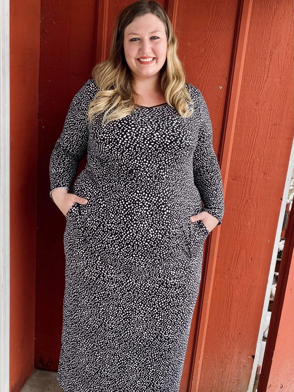 $45.99 black & white dress
