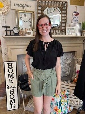 Paperbag Shorts With Tie