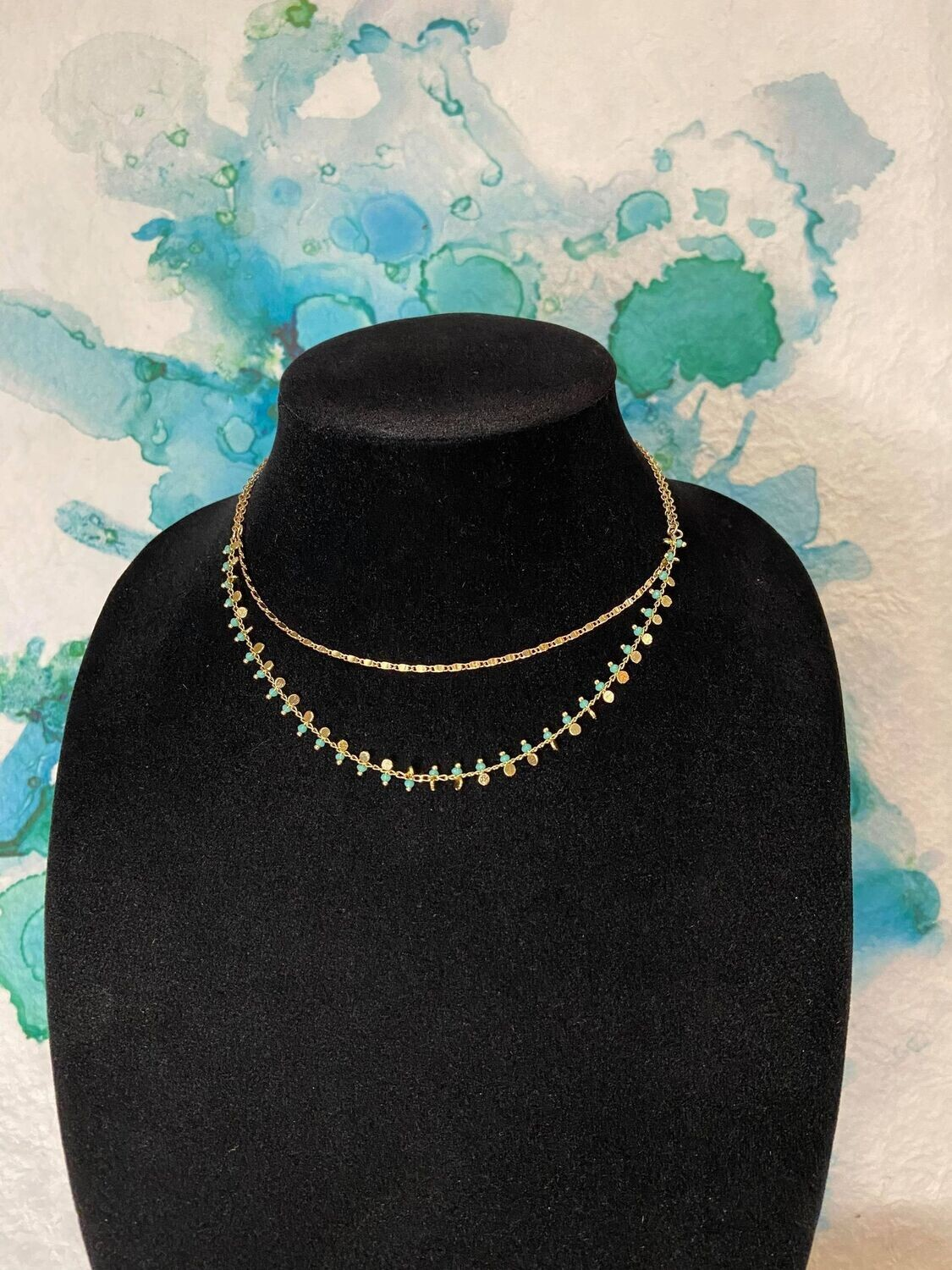 Beaded Two Layer Necklace