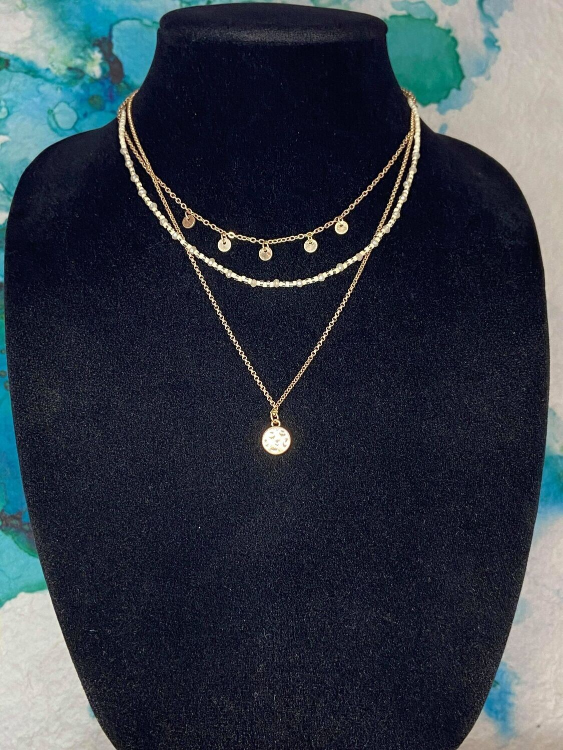 Layered Ivory Collar Necklace
