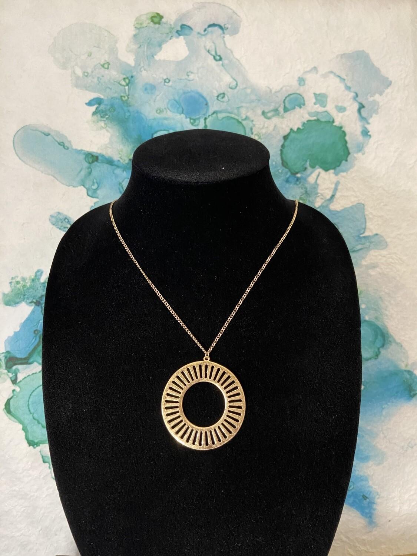 Round Metal Necklace