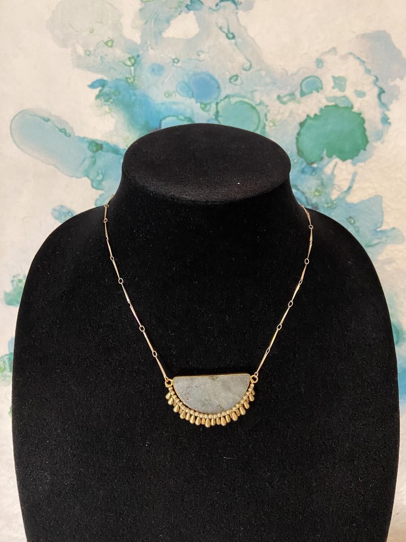 Half Circle Stone Necklace