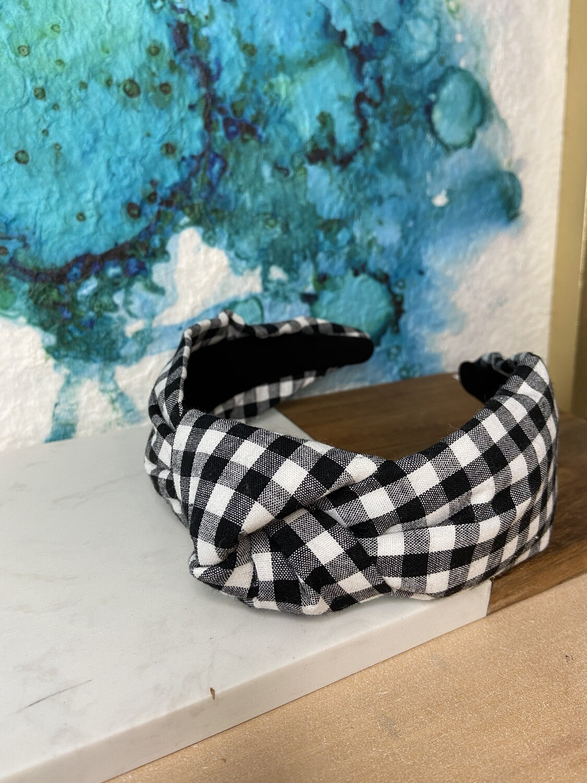 Black/White Checkered Headband