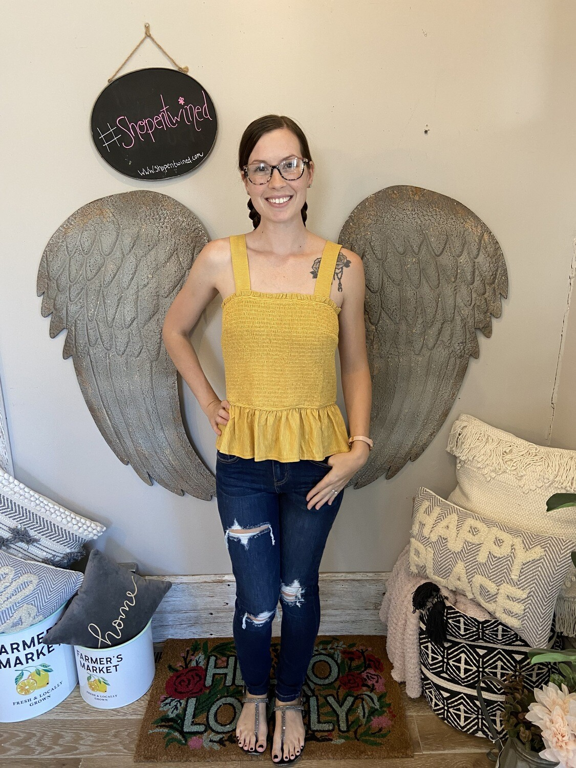 Yellow Flare Top
