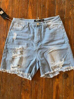 Plus Denim Shorts