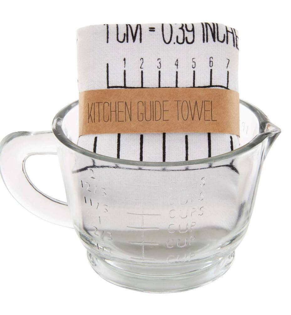 Measuring Cup With Towel Set