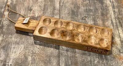 Wood Deviled Egg Tray