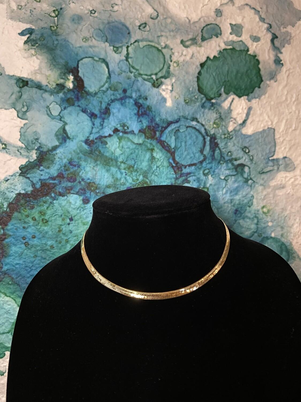 Short Herringbone Necklace