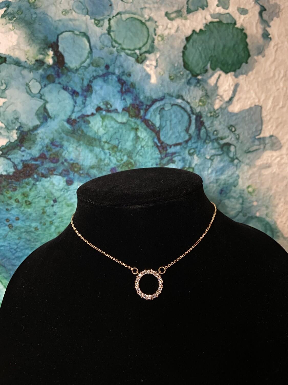 Circle CZ Necklace