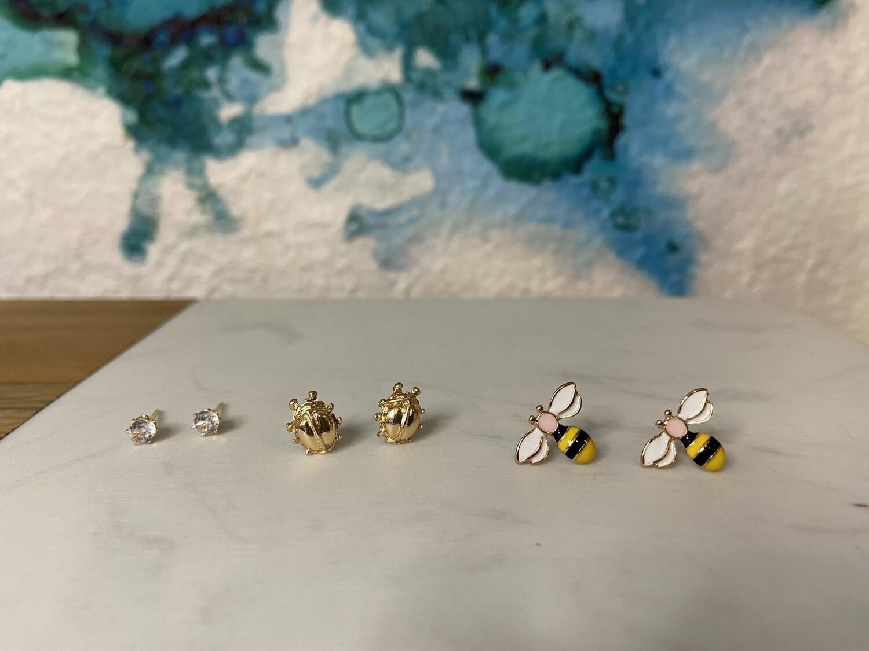 Bee/Lady Bug Studs