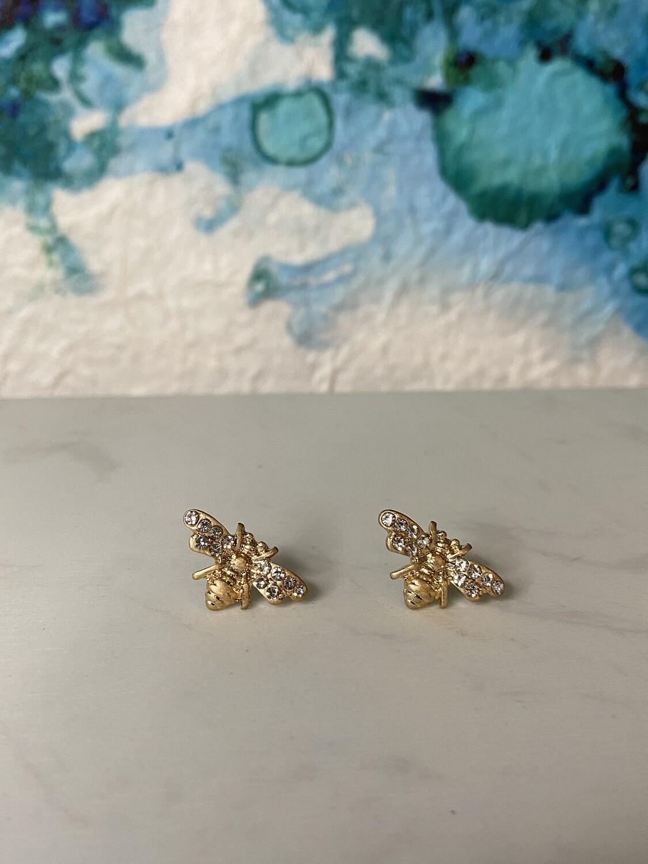 Bee Post Earrings