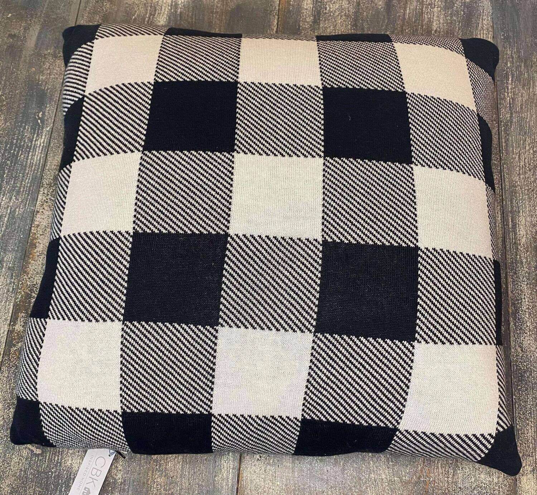 B&W Buffalo Plaid Pillow