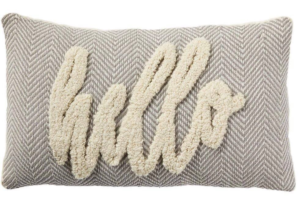 Hello Tufted Pillow