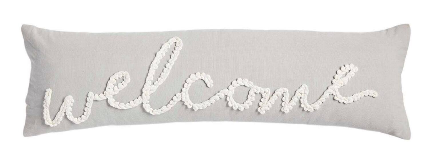 Grey Welcome Pillow