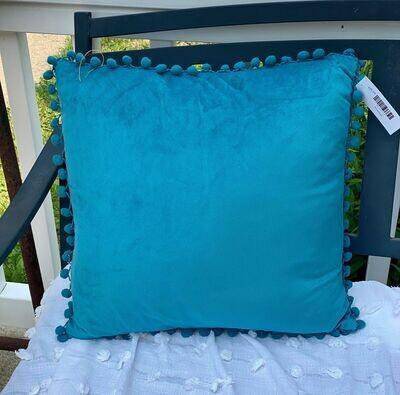Blue Tassel Pillow