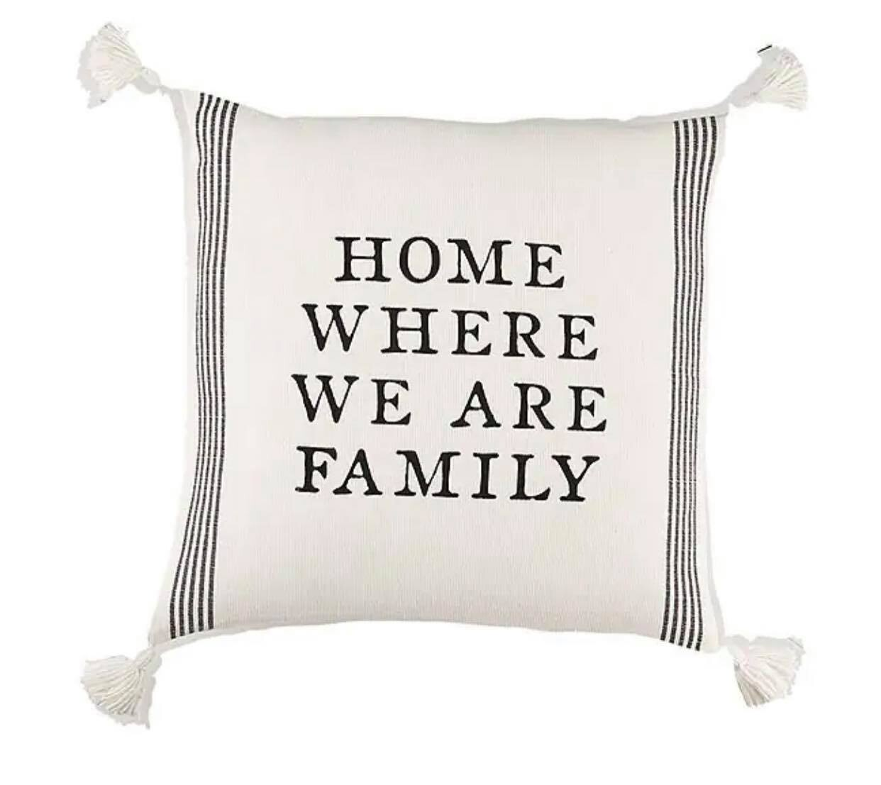 Home Where We Are Family Pillow