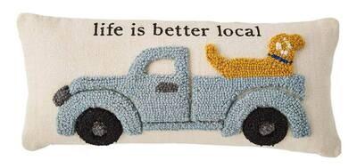Truck & Dog Pillow